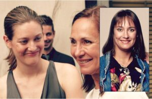 Zoe Perry y su madre Laurie Metcalf
