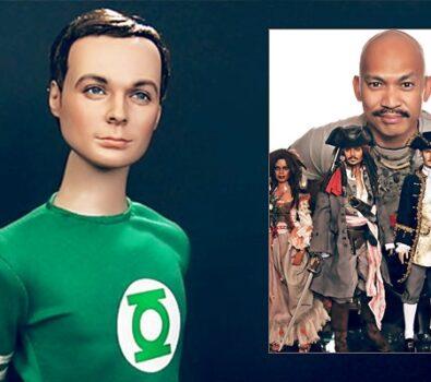 Figura acción hiperrealista de Sheldon Cooper